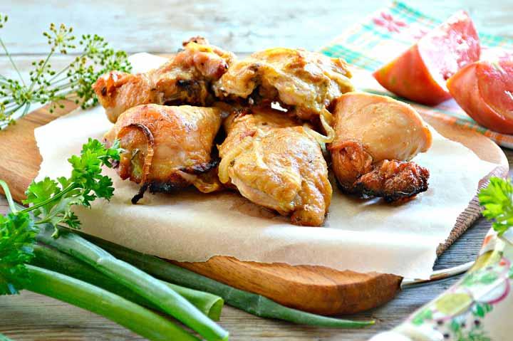 Куриное филе в вине