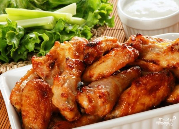 Рецепт куриных крыльев на мангале
