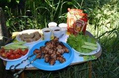 Шашлык из свинины, маринованной в шампанском. рецепт с пошаговыми фото