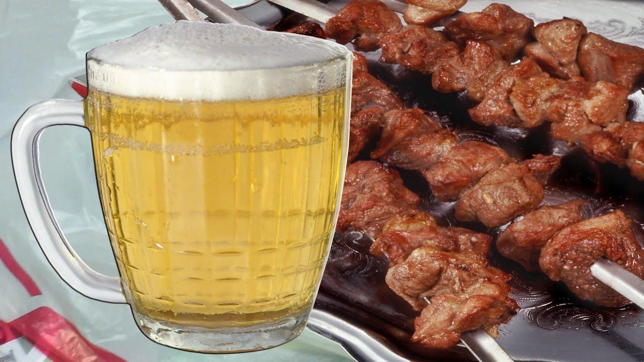 Шашлык из свинины в пиве