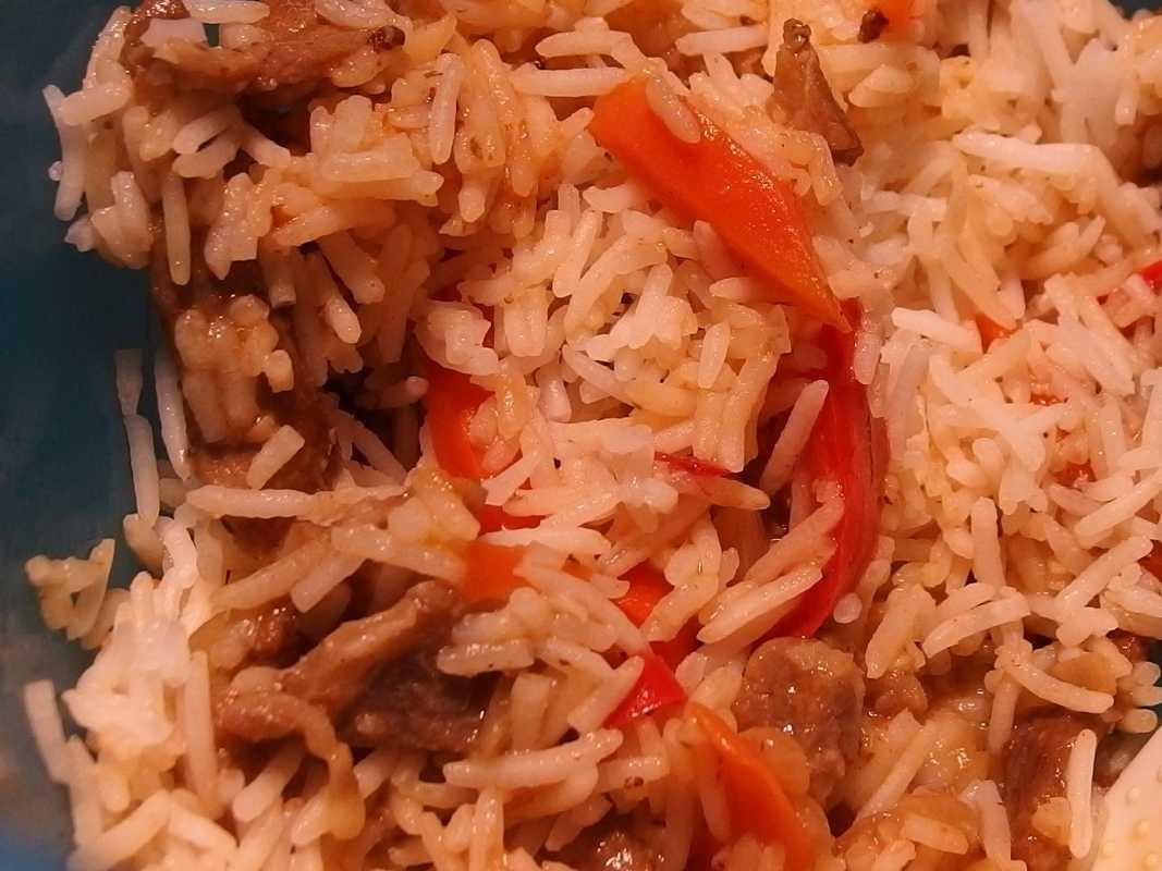 Количество продуктов необходимое для приготовления плова на 10, 15, 20, 30 человек и сколько порций получается из 1 кг риса