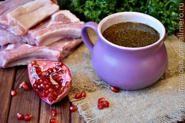 Шашлык из свинины на гранатовом соке рецепт
