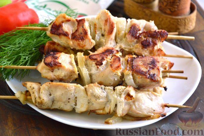 Шашлык из курицы — маринад с майонезом что бы мясо было сочным и вкусным