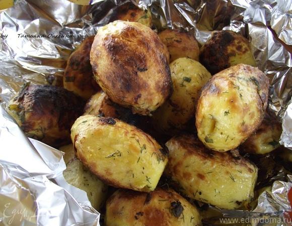 Как приготовить картошку на мангале