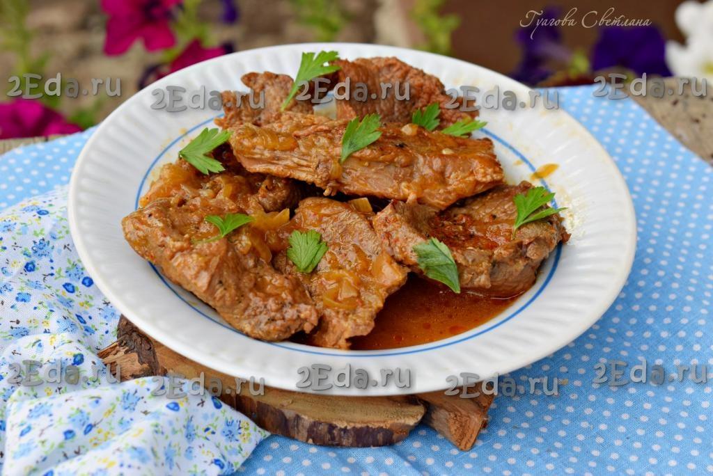 Говядина, тушеная с картошкой в кастрюле - 8 пошаговых фото в рецепте