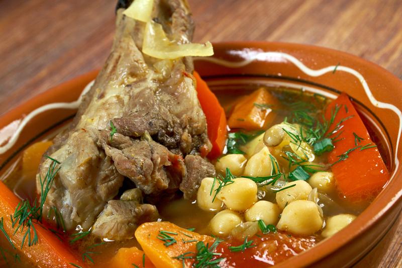 Шурпа из баранины на костре | кавказская кухня