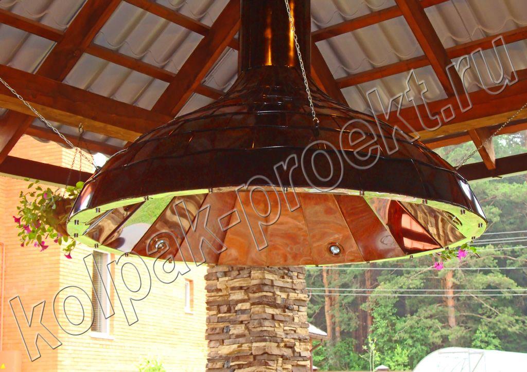 Вытяжка для беседки: вытяжной зонт над мангалом, сборка и установка