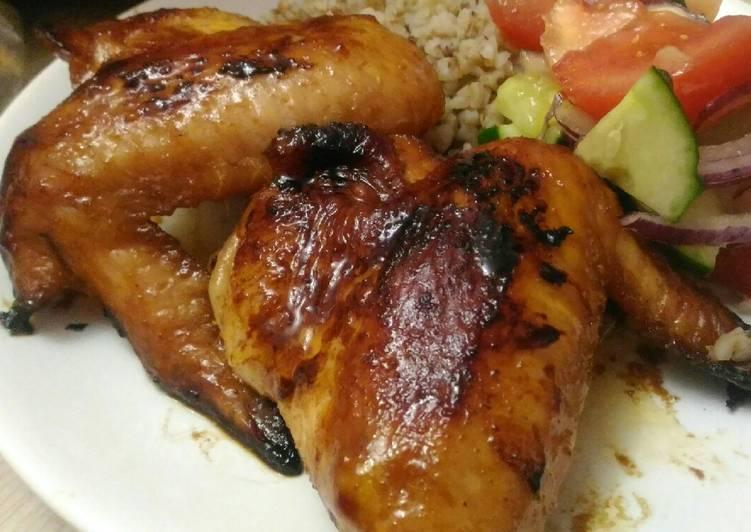 Шашлык из курицы с медом в духовке на шпажках