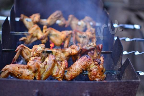 Рецепты шашлыков из куриных крылышек