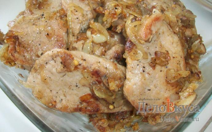 Свинина, тушеная с луком - 6 пошаговых фото в рецепте