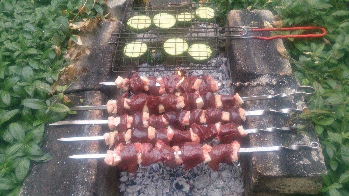 Шашлык из печени свинины