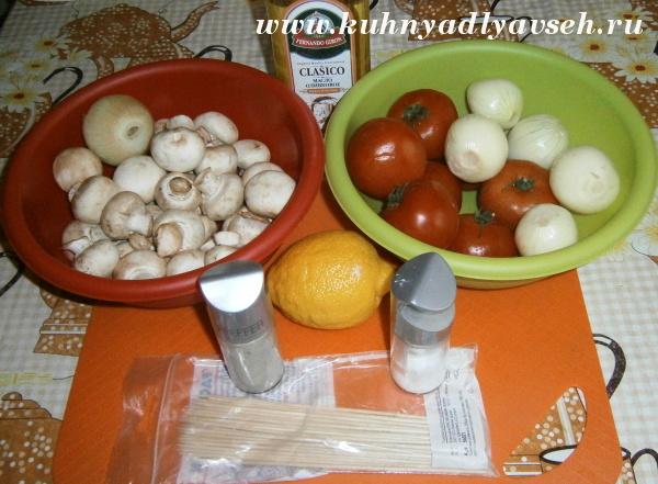 Маринад для шампиньонов на мангале