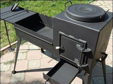 Печь для казана своими руками: инструкция по изготовлению кирпичной и металлической печи