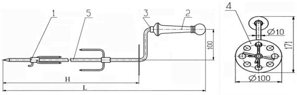 Вертел для мангала: делаем своими руками. как собрать практичный мангал с электроприводом своими руками