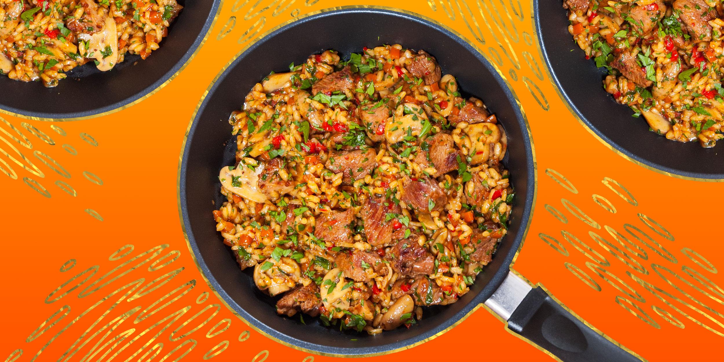 Мясо тушеное с овощами – рецепт с фото на сковороде