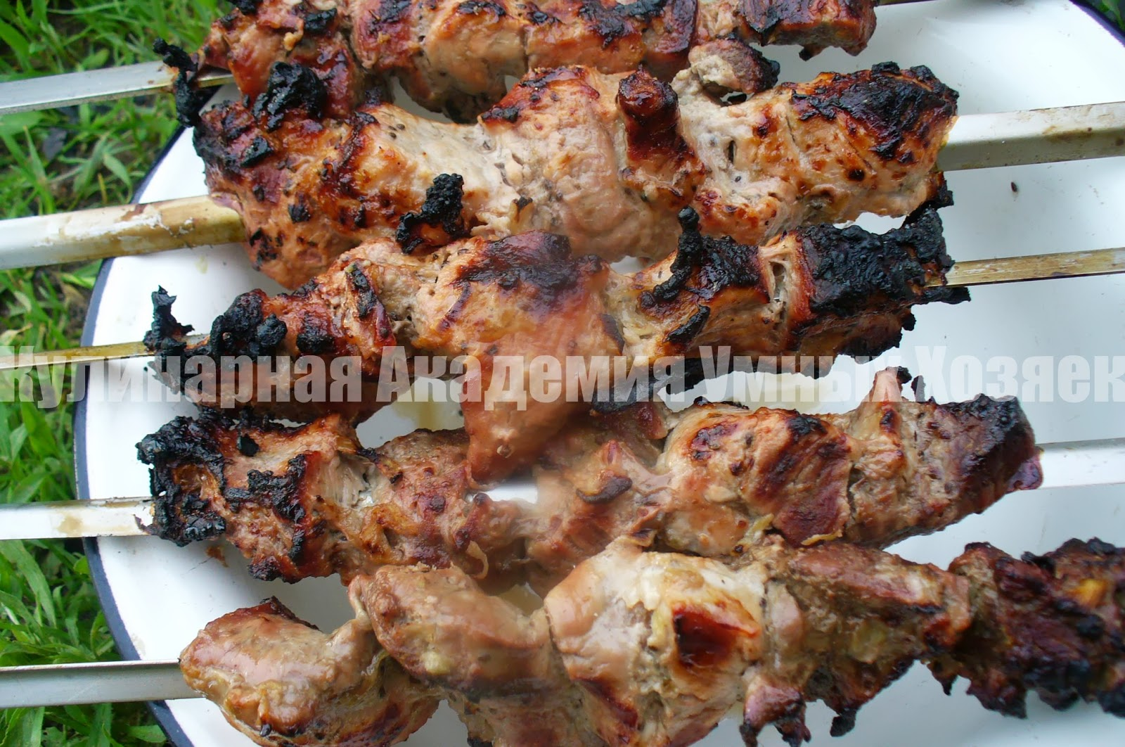 Рецепт шашлыка из свинины с киви