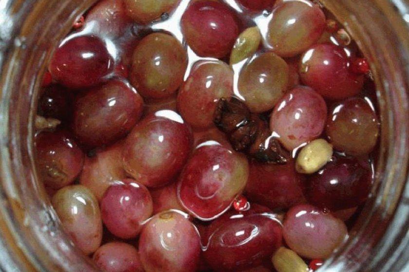 Виноград маринованный с горчицей на зиму рецепт