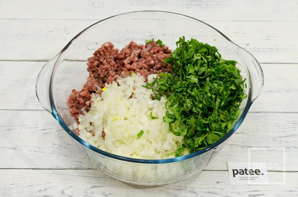 Люля кебаб из говядины с зеленью