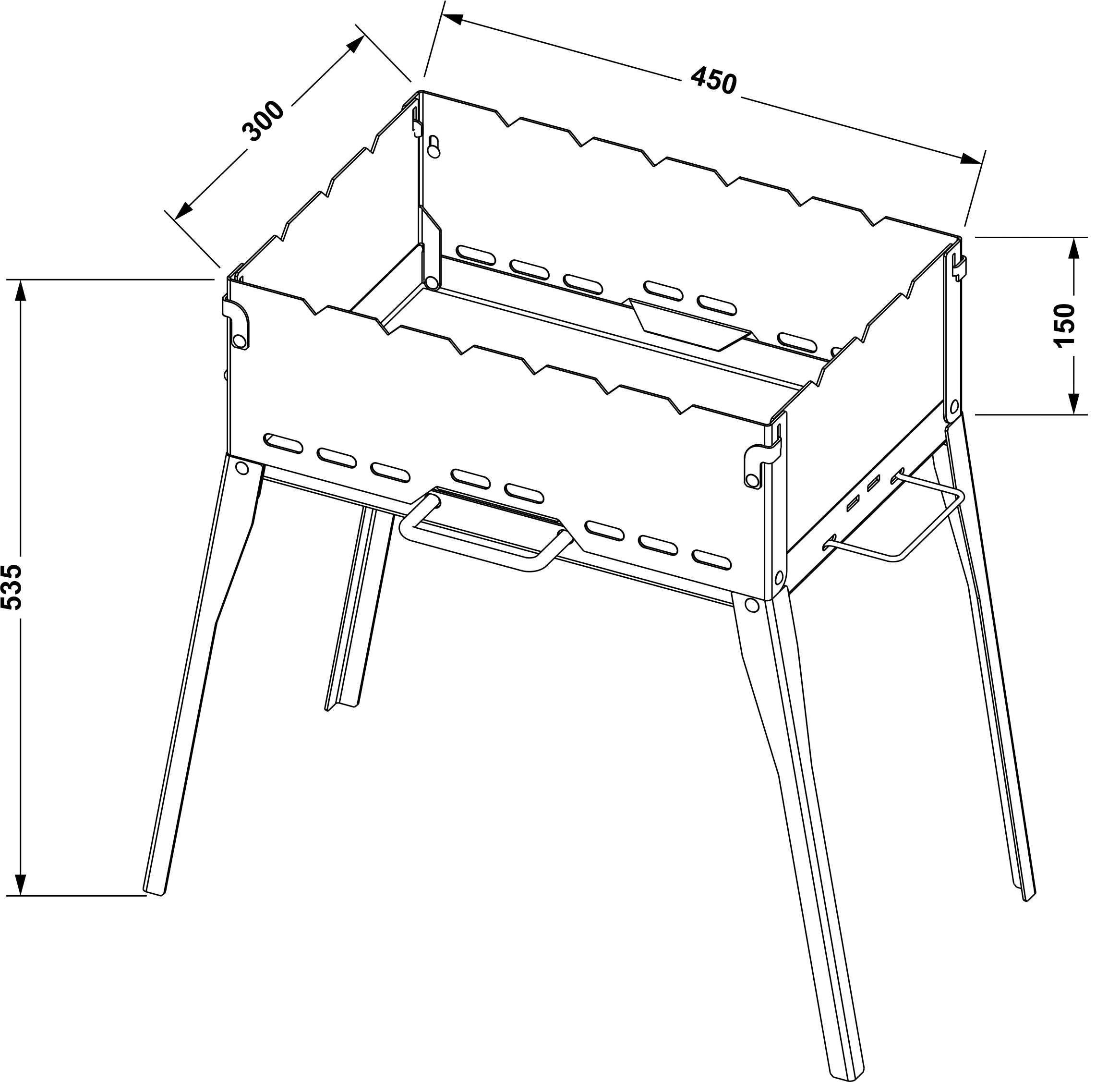 Как сделать разборный мангал: технология изготовления