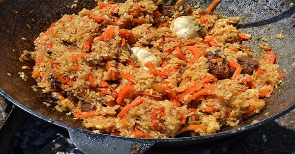 Какой рис нужен для плова: из басмати или других сортов риса при верной пропорции воды плов получится в казане не как каша