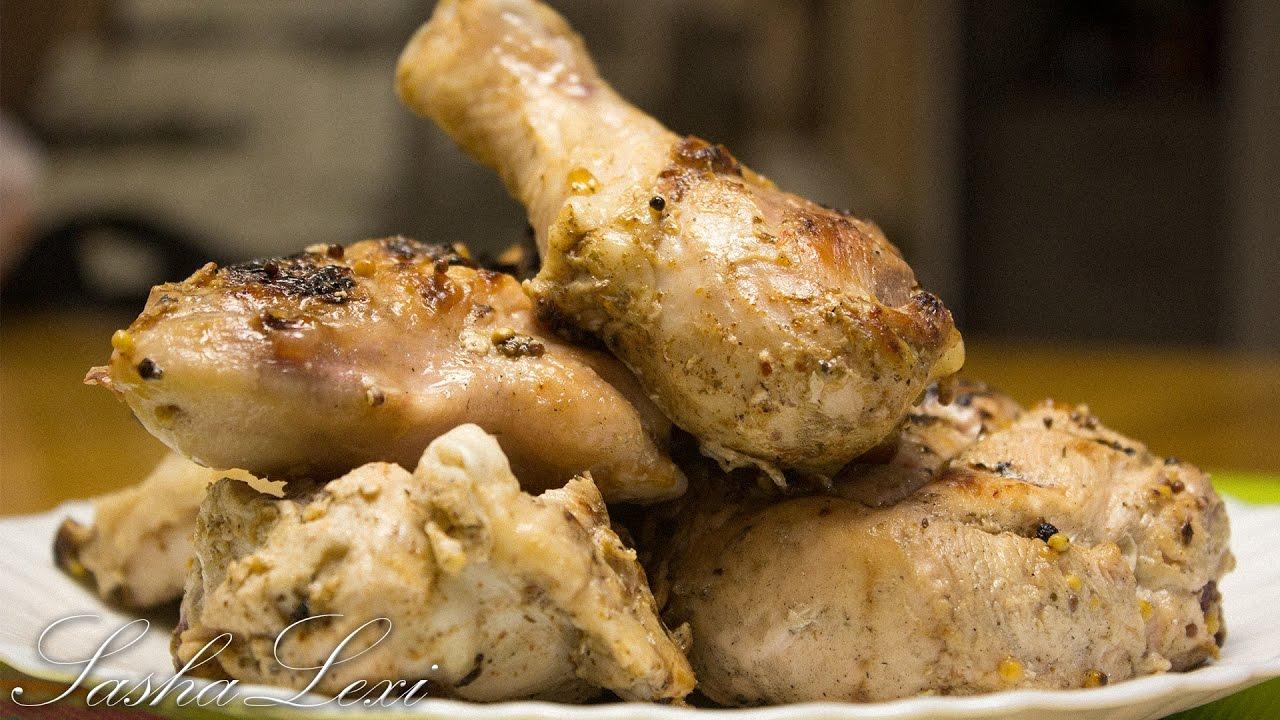 Маринад для шашлыка из курицы в майонезно-горчичном соусе