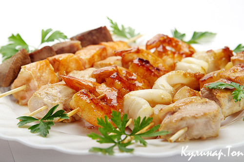 Шашлык из рыбы — 9 самых вкусных рецептов