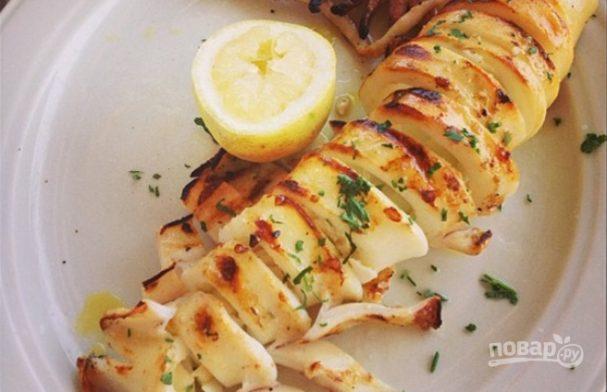 Шашлык из кальмаров: рецепт на мангале