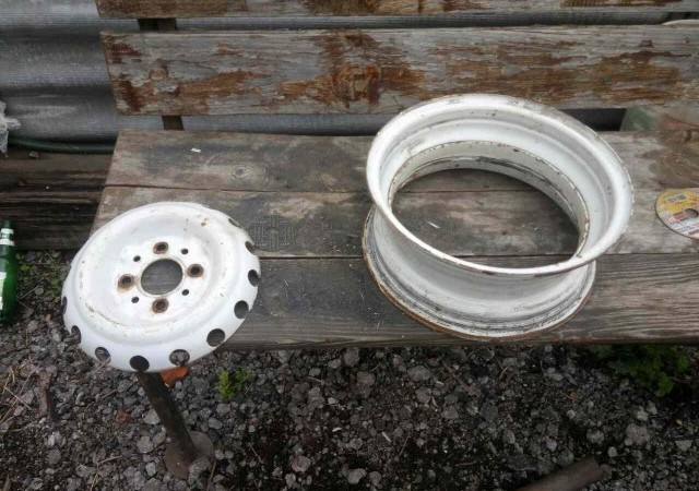 Как сделать мангал под казан из автомобильных дисков
