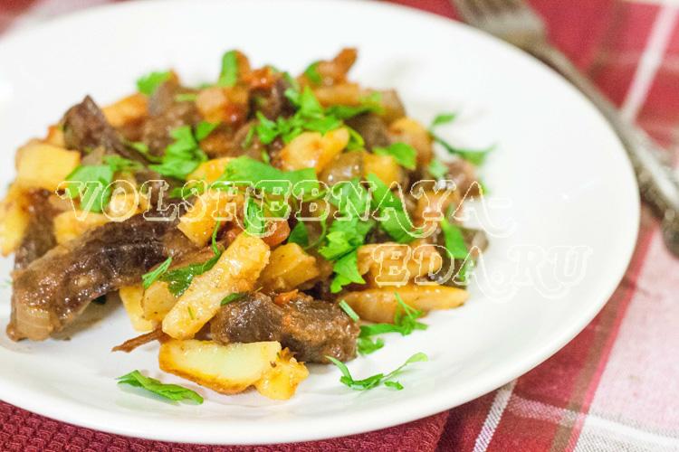 Как приготовить азу по-татарски из говядины — пошаговый рецепт с фото