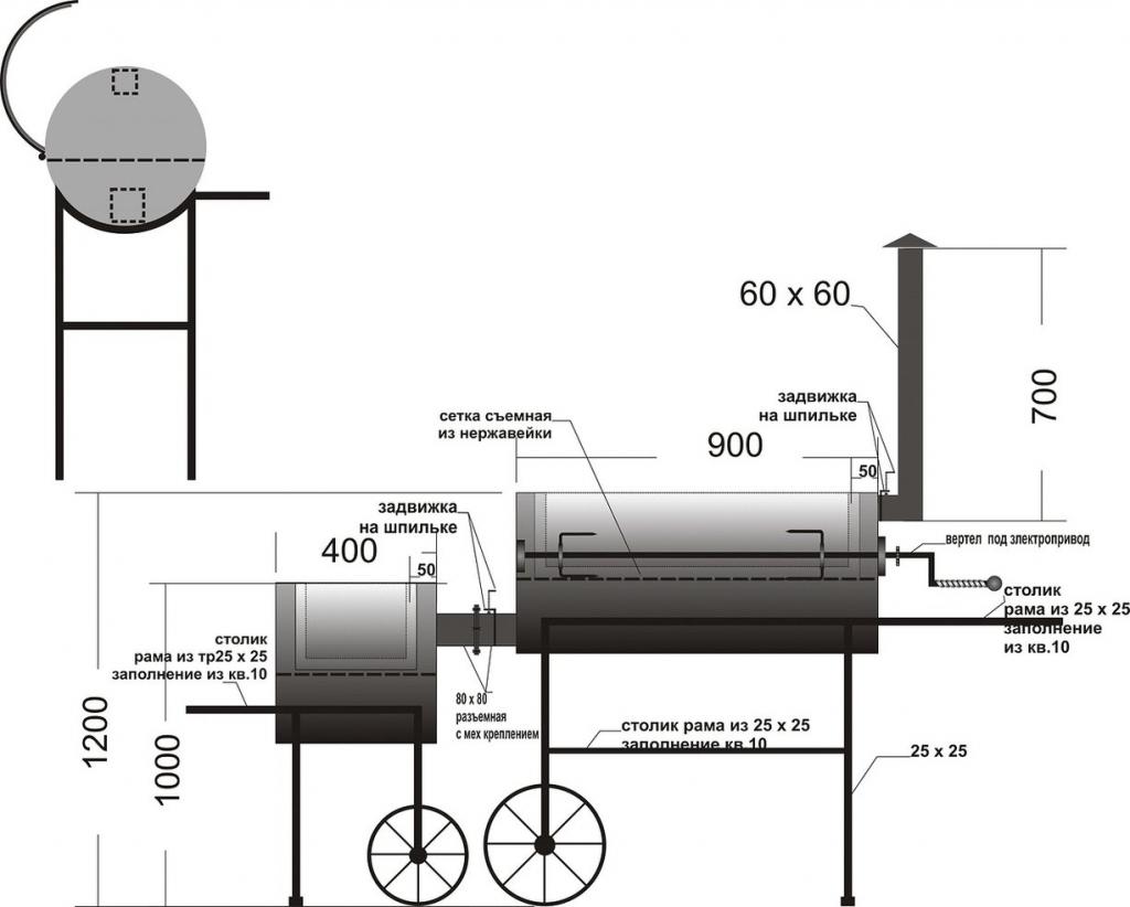 Как сделать мангал-коптильню из газовых баллонов?