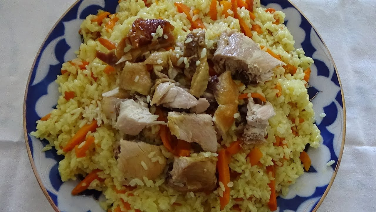 Плов по-узбекски с курицей в казане с рассыпчатым рисом — 2 вкусных рецепта с фото и видео