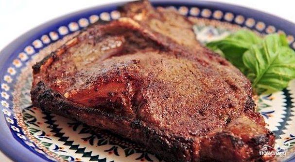 Отбивные из говядины в фольге в духовке - 8 пошаговых фото в рецепте