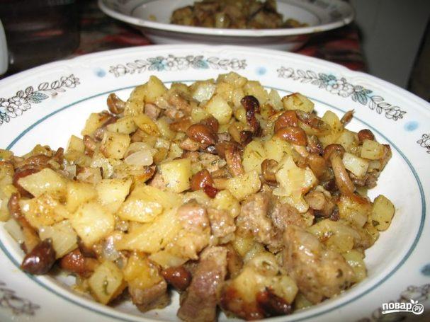 Блюда из свинины с белыми грибами