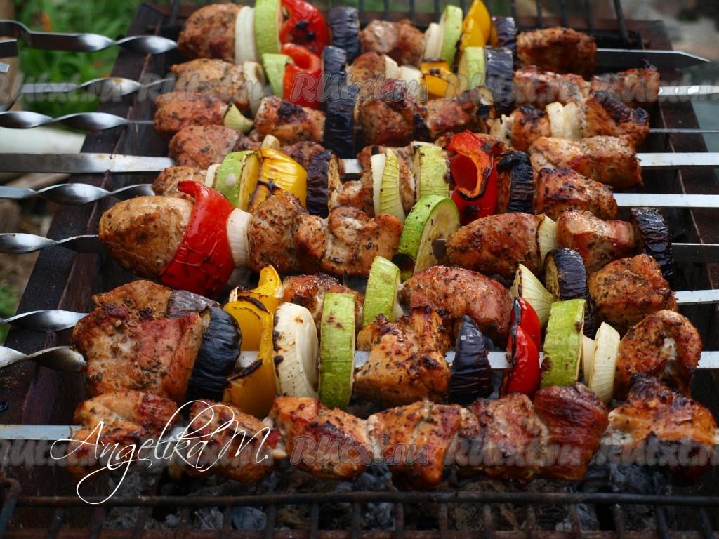 Рецепты с фото овощей на мангале