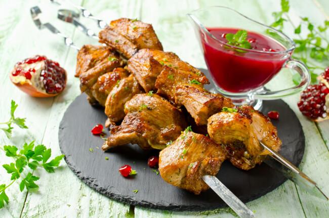 Шашлык из свинины в гранатовом соке. гранатовый маринад – богатый вкус! рецепты маринадов из гранатового сока для разного мяса, птицы, рыбы