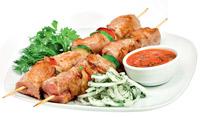 Готовим шашлык из свинины, не выходя из дома — сочное мясо на сковородке с ароматом дымка