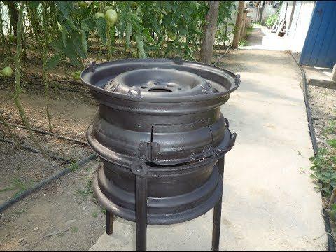 Руководство по изготовлению печи для казана из дисков автомобиля