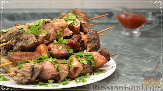 Шашлык в банке в духовке из свинины на шпажках рецепт