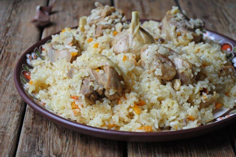 Плов с курицей — пошаговый рецепт в казане на плите