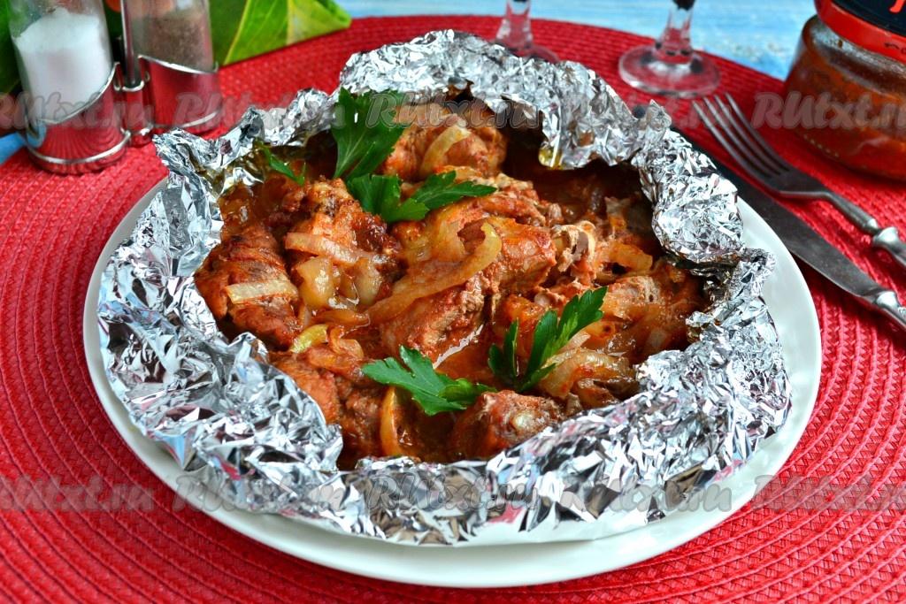 Мягкий шашлык из свинины с маринадом из лука