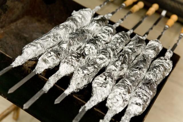 Шашлык из свинины в духовке в рукаве. пошаговый рецепт с фото