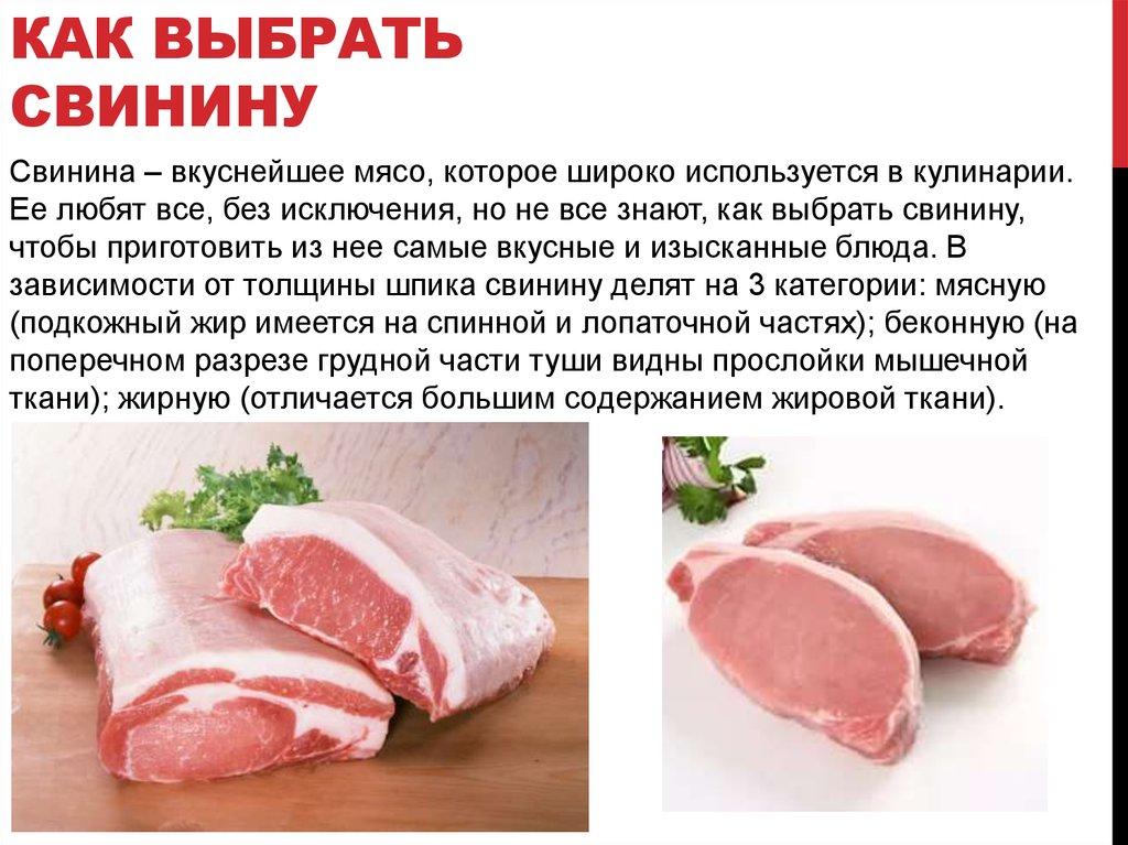 Калорийность свинины, как выбрать мясо