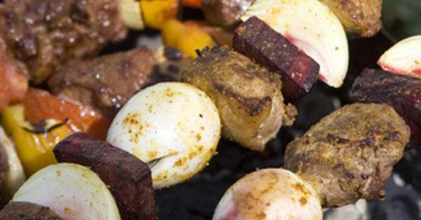 Шашлык из свинины в маринаде с горчицей