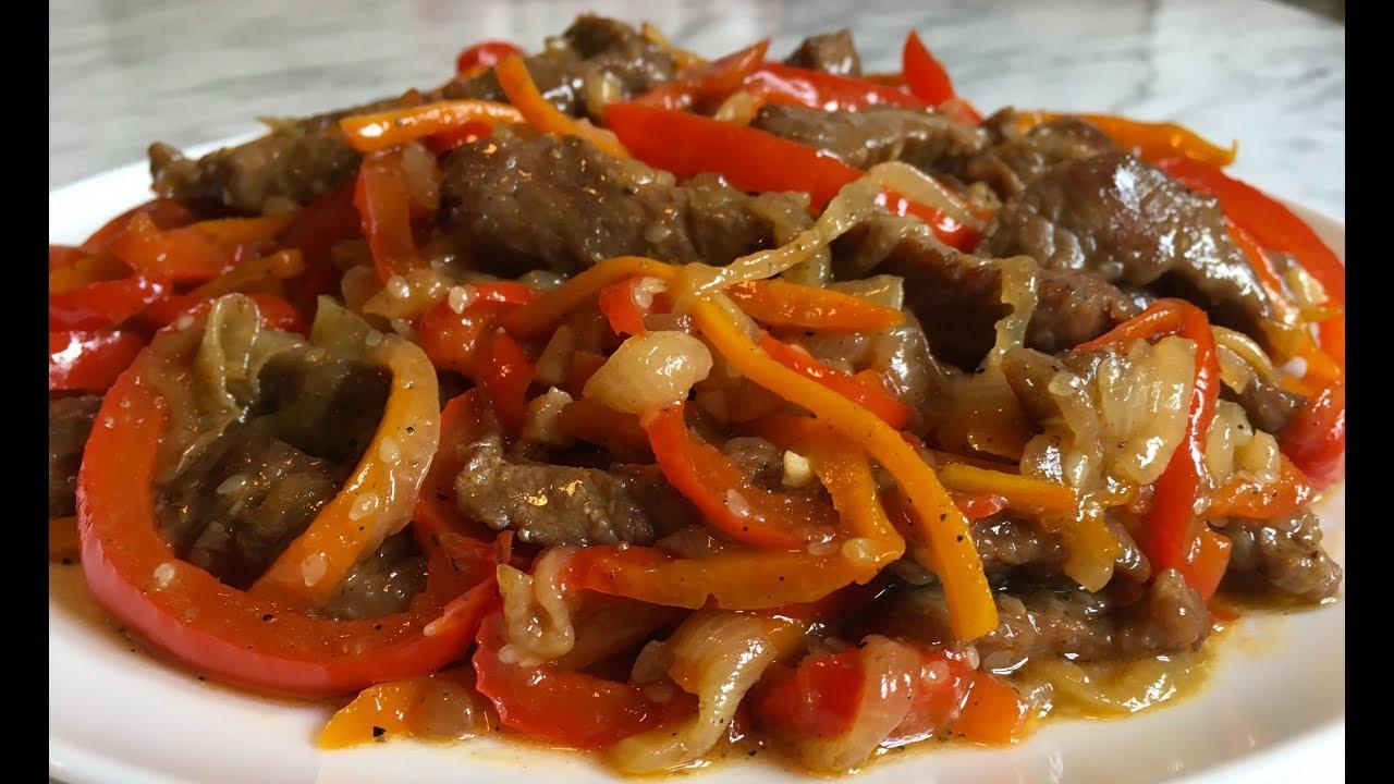 Жареная свинина со специями и овощным гарниром - рецепты джуренко