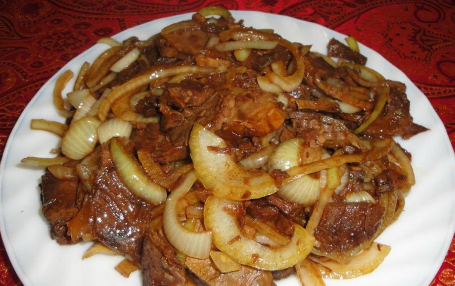 Пошаговый рецепт с фото. баранина жареная с луком на сковороде рецепт
