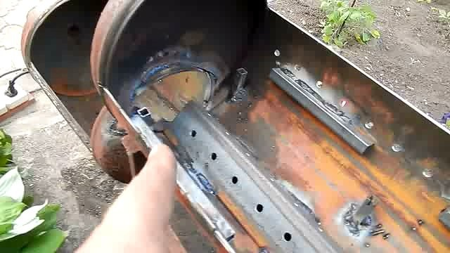 Как сделать своими руками мангал из газового баллона