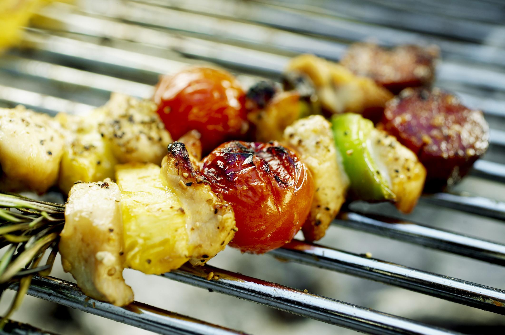 Шашлык из овощей на мангале или замашка на вегетарианскую кухню