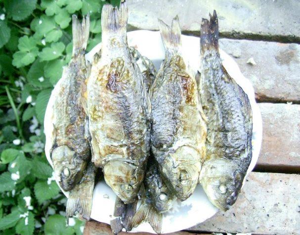 Карась на углях — рыбные рецепты