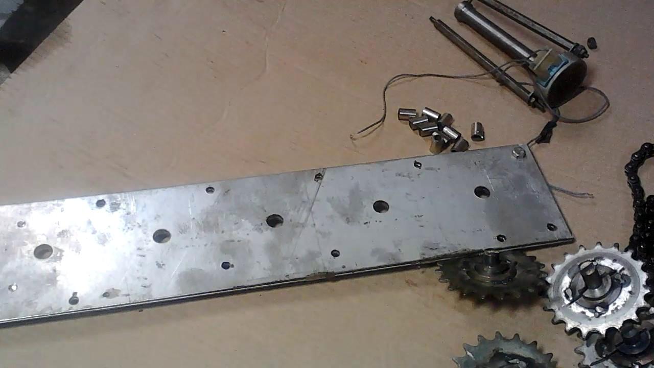 Изготовление автоматического мангала с электроприводом шампуров своими руками