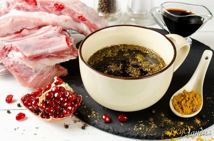 Маринад для шашлыка с гранатовым соком: 3 рецепта